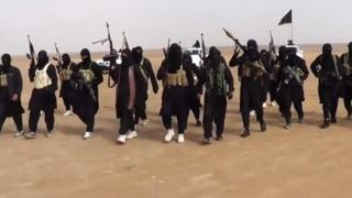 allegedly shows ISIL (ISIS) militants gathering at an undisclosed location in Iraq's Nineveh province.