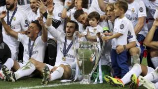 Mabingwa wa kombe la vilabu bingwa Ulaya Real Madrid