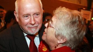 Kelvin Hopkins and his wife Patricia