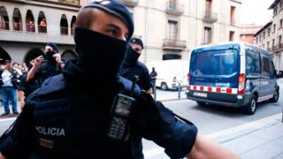 Policía en Ripoll