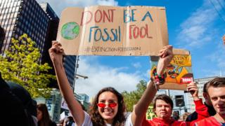 environment A climate change protest in Rotterdam in September 2019
