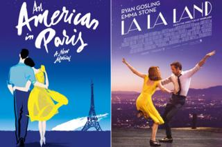 Posters for An American in Paris and La La Land