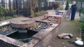 Vandalised garden