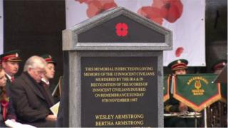 The memorial which was unveiled at an event marking 30 years since the attack