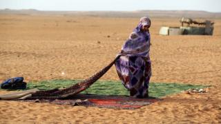 Sahrawi refugee (file photo)