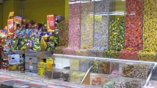 A Finnish pick-and-mix stand