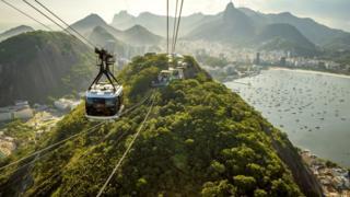 Bondinho do Pão e Açucar no Rio