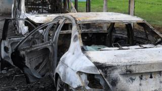 Vehicles destroyed in fire