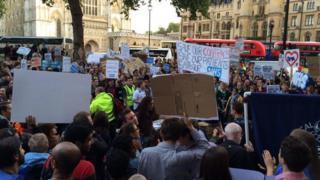 Junior doctors protest in Westminster