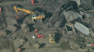 Collapsed building at Didcot Power Station