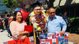 Luis Lopez shown in a graduation photo