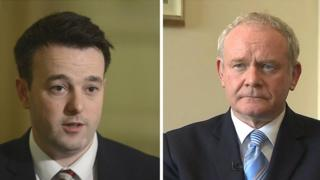 Colum Eastwood and Martion McGuinness