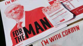 A Leaflet featuring Labour Party leader Jeremy Corbyn