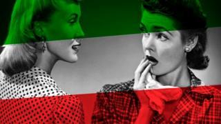 Две женщины на фоне цветов венгерского флага