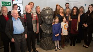 Sculpture of Wilbert Lloyd Roberts is unveiled