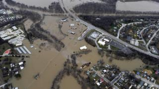 Flooding in Union, Missouri. 29 Dec 2015