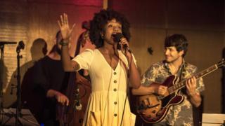 Cherise Adams-Burnett performing at the London Jazz Festival