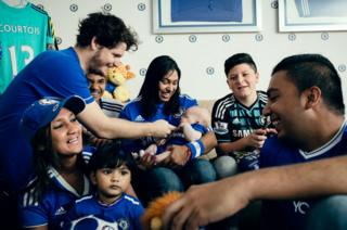 A group of Chelsea supporters feels more like a family in Johannesburg