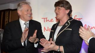 Peter Robinson and Arlene Foster in 2015