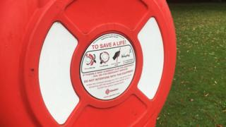 Lifebuoy by the River Trent in Nottingham
