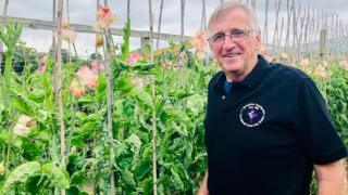 John Rowlands with his plants