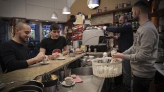 A coffee bar in Milan