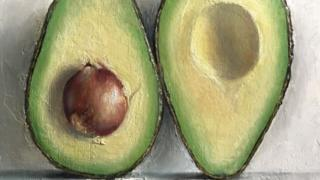 Halved Avocado (detail)