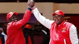 Rais Uhuru Kenyatta na makamu wa rais William Ruto