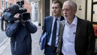Jeremy Corbyn arriving for Tuesday's meeting of Labour National Executive Committee
