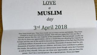 Love a Muslim Day letter