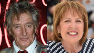 Rod Stewart and Penelope Wilton