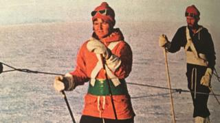 Myrtle Simpson crossing Greenland in the 1960s