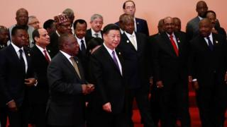 African leaders wit China presido Xi Jinping