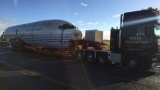 Boeing 727 aircraft fuselage