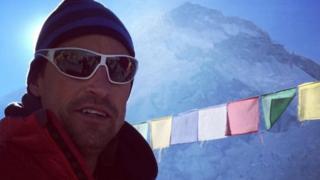 Kenton Cool at Everest base camp