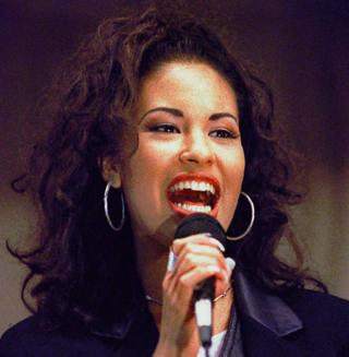 Selena Quintanilla performs during a concert in Corpus Christi, Texas in November 1994