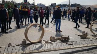 Demonstrators in Shiraz, Iran, 16 November 2019