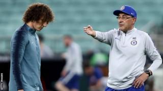 Maurizio Sarri na David Luiz