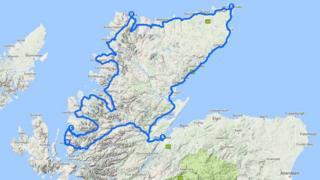 The North Coast 500 follows a route around the north of Scotland