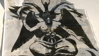 Image depicting a satanic figure