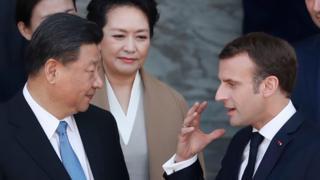 시진핑 주석과 마크롱 대통령