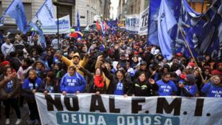 Arjantin'de Temmuz ayında yapılan G20 Maliye Bakanları toplantısı sırasında IMF karşıtı gösteriler düzenlenmişti.