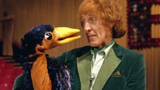 Rod Hull and Emu, pictured in 1981 as part of their BBC Christmas show