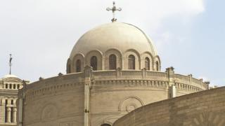 Hanging Coptic Church in ancient Cairo, Egypt