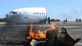 The scenario involved a US C-17 aircraft carrying nuclear warheads crashing over Suffolk