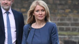 Work and Pensions Secretary Esther McVey arriving at Downing Street