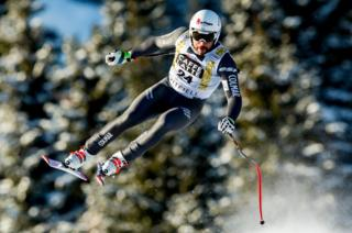 Brice Roger of France skiing