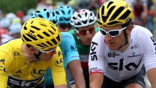 Chris Froome a Geraint Thomas