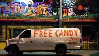 The Free Candy Van that turned Ron Jacobs into a minor internet celebrity.
