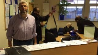 Jim Steinke of the Northern Refugee Centre in Sheffield